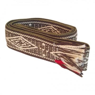 bands-of-la-free-spirit-baelte-oliven-gron-hvid-accessories