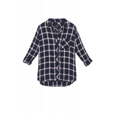 rails-hunter-shirt-dark-blue-bordeaux-white-skjorte-overdel