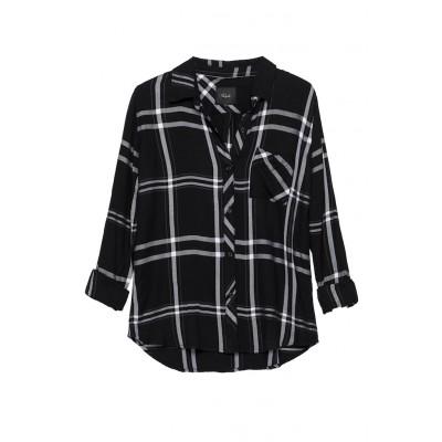 rails-hunter-shirt-black-white-skjorte-overdel-1034-550-0