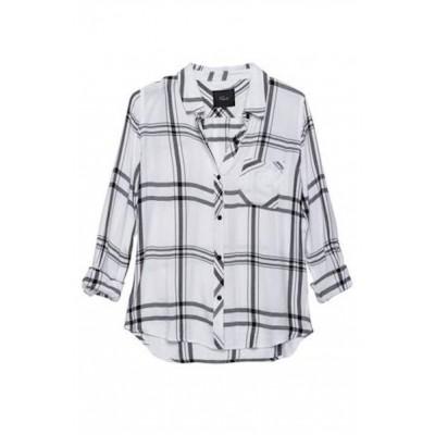 rails-hunter-shirt-white-black-skjorte-overdel