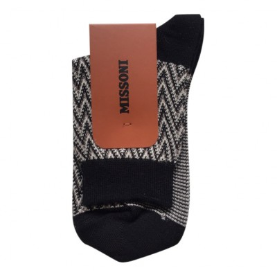 CA00CMD5713 Ankel Socks, White/Black/Brown
