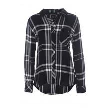 rails-hunter-shirt-black-white-grey-skjorte-overdel