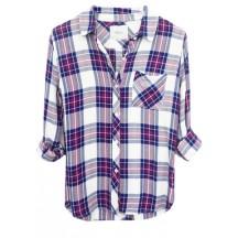 Rails-Hunter-Tencel-Shirt-White-Navy-Magenta-skjorte-overdel