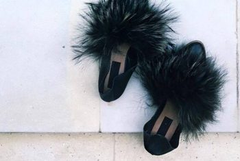 Fourrure By Cecilie Dichmann, Fluffy pels slippers