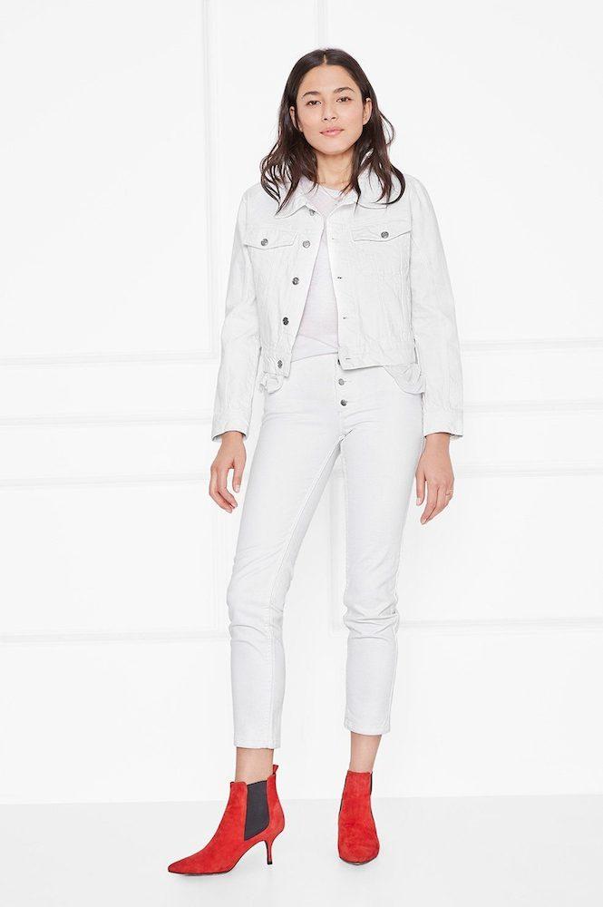 hvid denim jakke