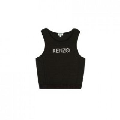 kenzo-logo-brassiere-top-overdel-sort-F962TO834951