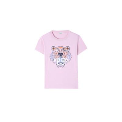 kenzo-tiger-t-shirt-lyserod-logo-overdel-fa52ts7214yb