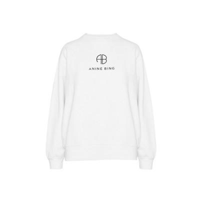 Anine-bing-ramona-monogram-sweatshirt-hvid-A-08-5055-142