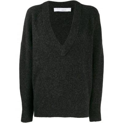Iro-alva-sweater-mørkegrå-strik-overdel-19W-WP12ALVA