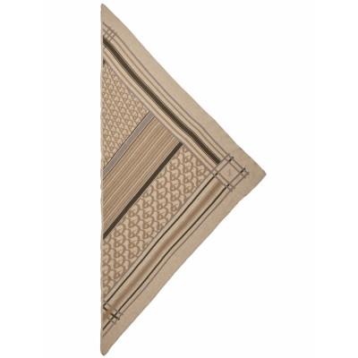 Lala-berlin-triangle-stripe-monogram-dune-tørklæde-1206-AC-1016