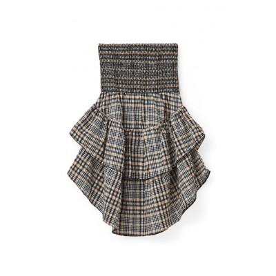 Ganni-Charron-Kjole-nederdel-Cuban-Sand-F1899