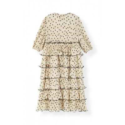 Ganni-pleated-georgette-kjole-creme-F3169
