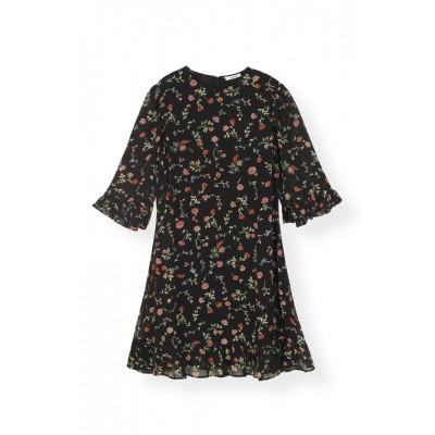 ganni-printed-georgette-kjole-sort-f3178