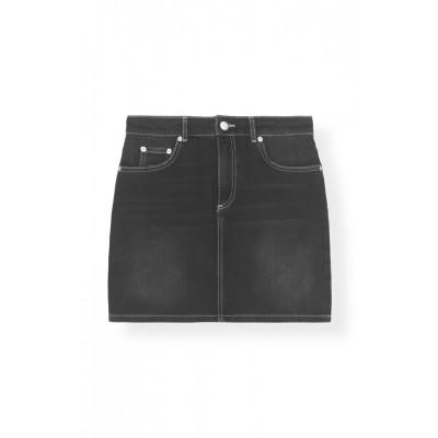 ganni-denim-nederdel-sort-f3610