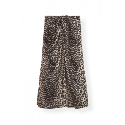 Ganni-Silk-Stretch-Satin-Nederdel-Leopard-F3654