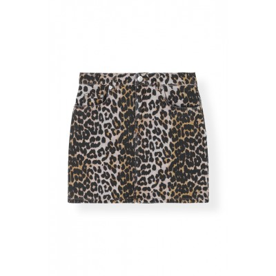 Ganni-Print-Denim-Nederdel-Leopard-F3710