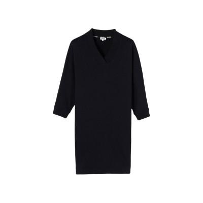 kenzo-sweatshirt-kjole-sort-logo-f752ro728952