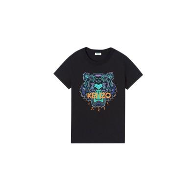 kenzo-tiger-t-shirt-sort-logo-overdel-F962TS7114Y7-99