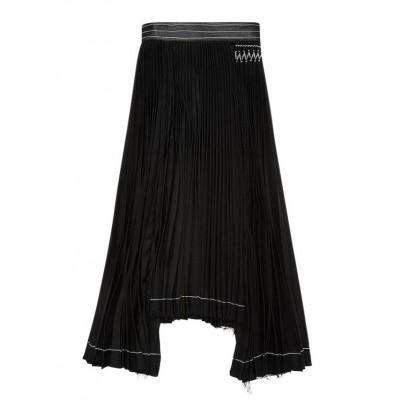 b99d17e1a2a Helmut Lang, Smuk og eksklusiv plisseret nederdel m/Asymmetrisk ...