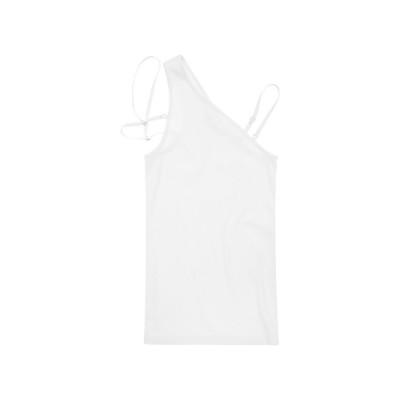 Helmut-lang-one-shoulder-top-hvid-overdel-J07DW506
