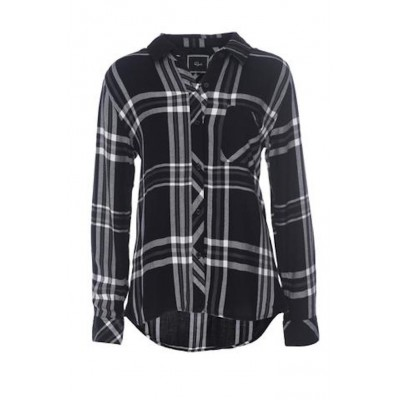 rails-hunter-shirt-black-white-grey-skjorte-overdel