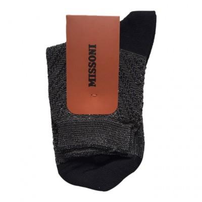 CA00VDM5464 Ankle Socks, Grey/Black/Silver