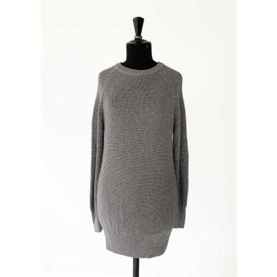 Raiine-jupiter-strik-kjole-overdel-sølv