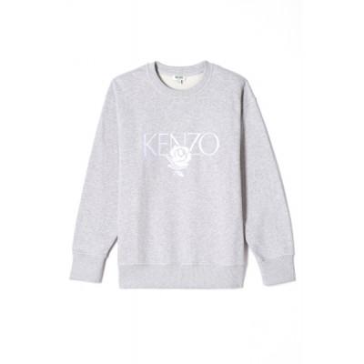 kenzo-sweatshirt-logo-roses-overdel-grå-F952SW779952