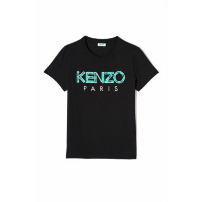 kenzo-t-shirt-logo-sort-overdel- F952TS721990