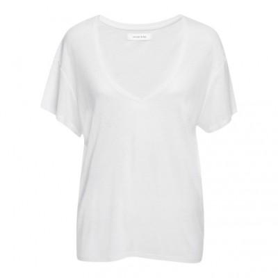 Anine-bing-t-shirt-hvid-v-udskæring-overdel