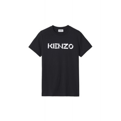 kenzo-t-shirt-logo-overdel-sort-FA62TS8414SJ