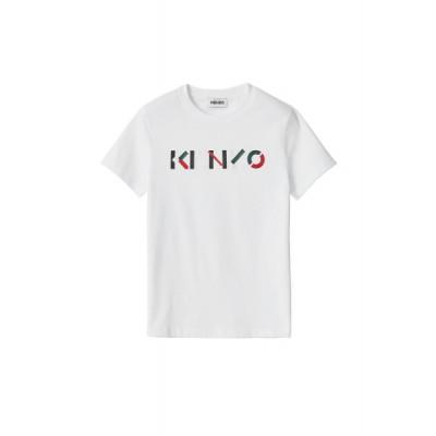 kenzo-logo-t-shirt-overdel-hvid-fa62ts8404sj