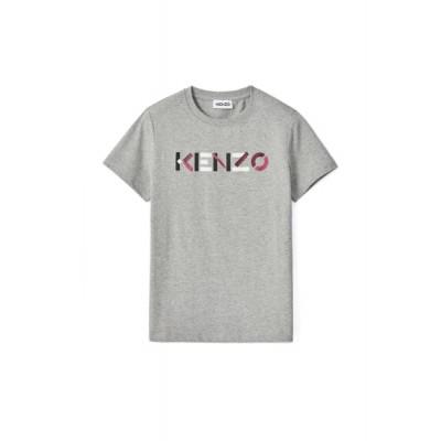 kenzo-logo-t-shirt-overdel-gra-fa62ts8404sj