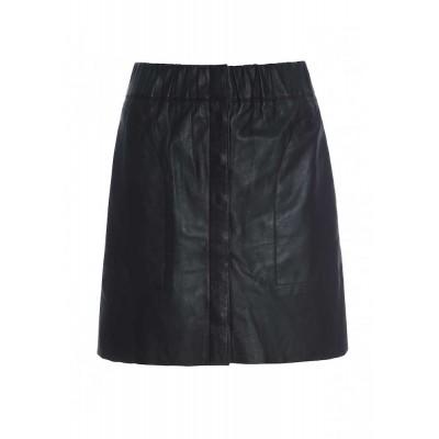 raiine-prairie-læder-nederdel-sort
