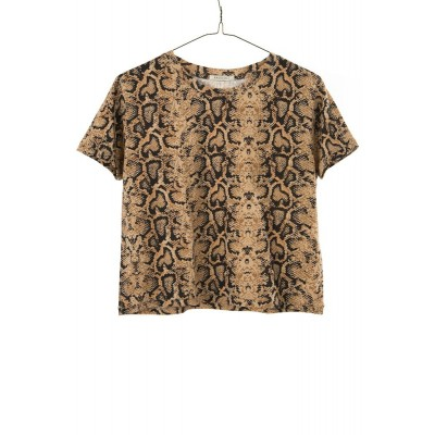 ragdoll-la-bluse-overdel-t-shirt-python-brun-s189