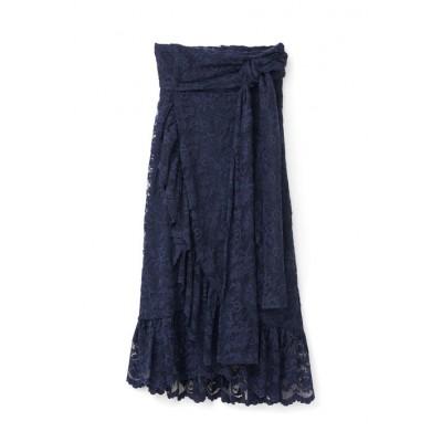 Ganni-flynn-lace-blonde-blå-nederdel-F1810