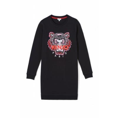 kenzo-tiger-logo-sweatshirt-kjole-sort-F962RO8354XA