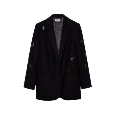 zadig-et-voltaire-viva-bis-star-blazer-sort-jakke-WGCA0203F