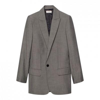 Zadig-et-voltaire-viva-bis-love-blazer-grå-jakke-WGTR1805F