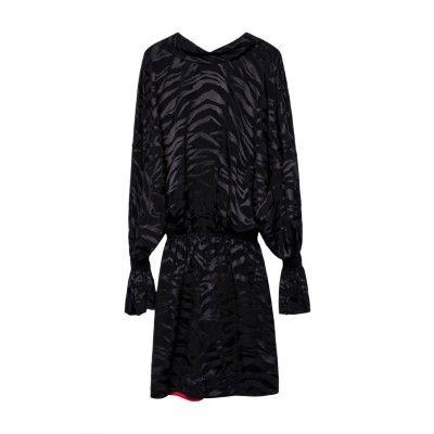 zadig-et-voltaire-riri-jac-tigre-sort-kjole-wgcp0403f