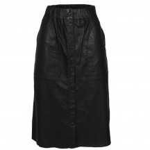 raiine-acker-læder-nederdel-sort