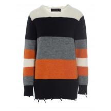 Raiine-amity-strik-sweater-grå-overdel