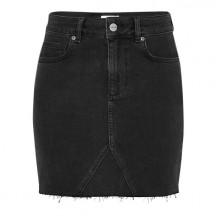 Anine-bing-Raw-Hem-Denim-nederdel-mørkegrå-1
