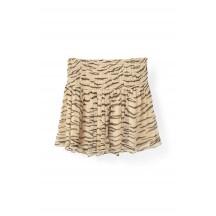 Ganni-Whitman-Chiffon-nederdel-Cuban-Sand-overdel-F1726