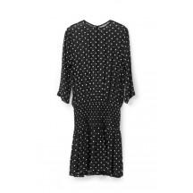 Ganni-Monette-georgette-kjole-sort-F1851