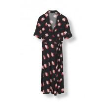 ganni-harley-slå-om-kjole-sort-blomster-F2249