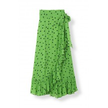 ganni-dainty-georgette-nederdele-gron-f2629-1