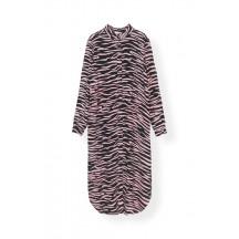 ganni-printed-crepe-kjole-sort-f2095