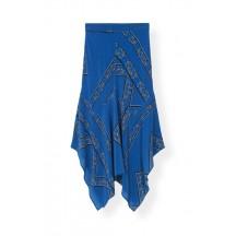 Ganni-Sandwashed-Silk-nederdele-blå-f2918