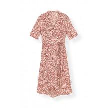 Ganni-Printed-crepe-slå-om-kjole-egret-F3335